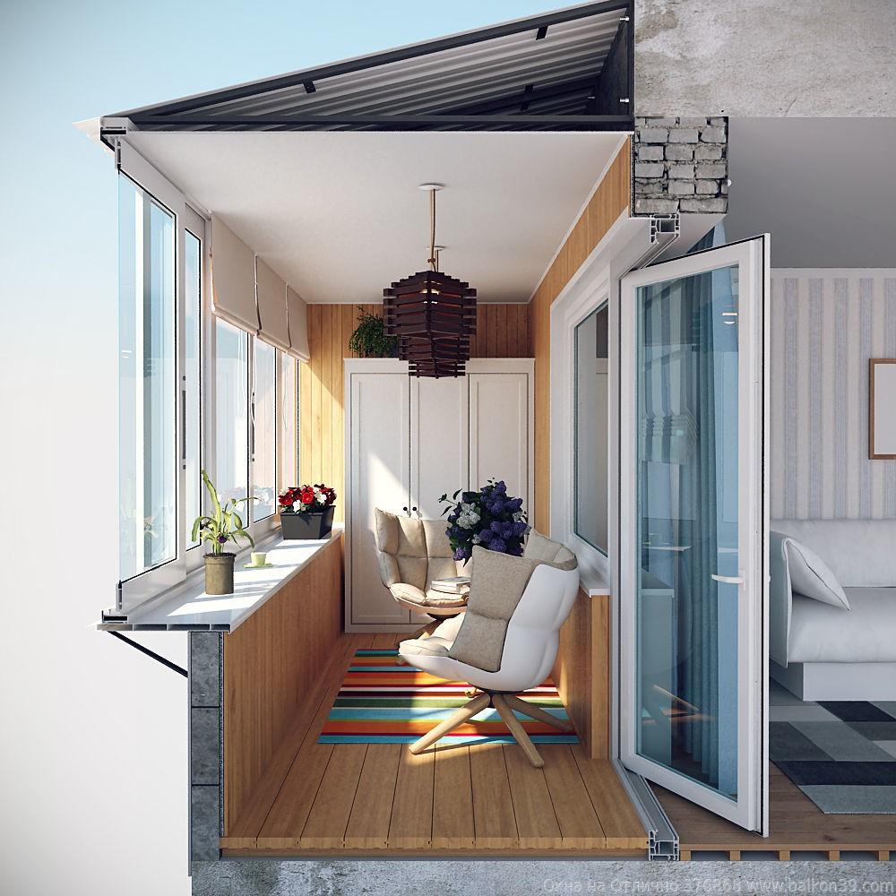 Балкон с крышей.